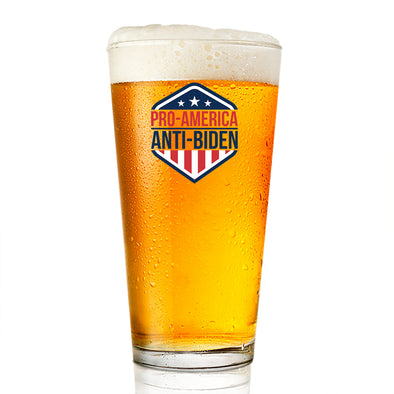 Pint Glass - Pro American Anti Biden