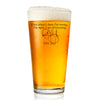 Pint Glass - Rush Limbaugh - Even When I think I'm Wrong I'm Right