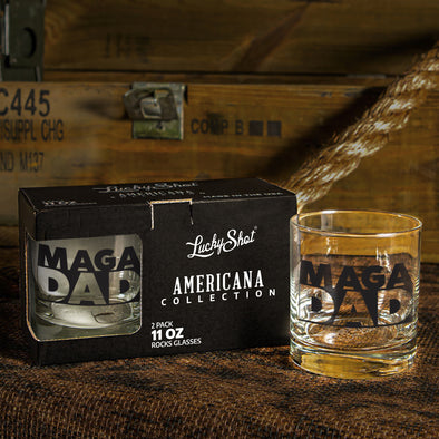 Whiskey Glass - MAGA Dad 2 Pack