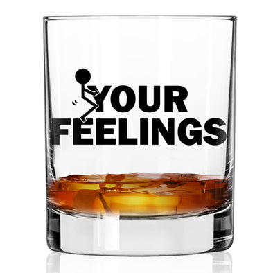 Whiskey Glass - Stick Figure F Your Feelings - Color