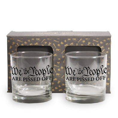 We the People are Pissed Off 2 and 4 Pack Whiskey Glass
