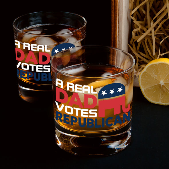 Whiskey Glass - A Real Dad Votes Republican