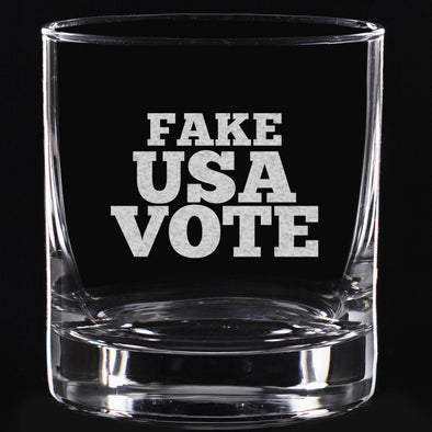 Whiskey Glass - Fake USA Vote