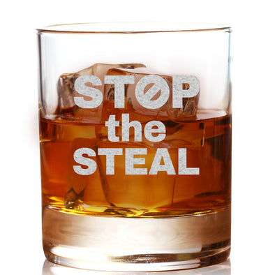 Whiskey Glass - Stop the Steal