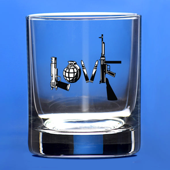 Whiskey Glass - LOVE Gun - Color