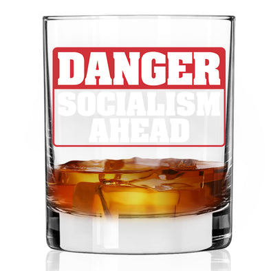 Whiskey Glass - Danger Socialism Ahead