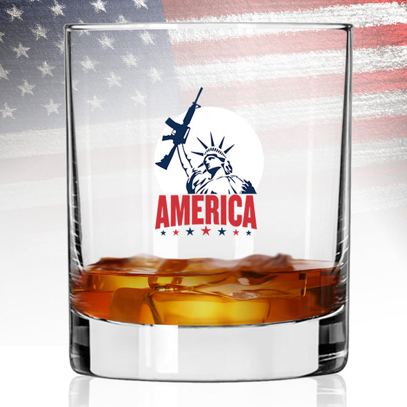Whiskey Glass - Statue of Liberty with AR Color