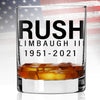Whiskey Glass - Rush Limbaugh 1951-2021