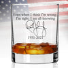 Whiskey Glass - Rush Limbaugh Even when I think I'm Wrong I'm Right