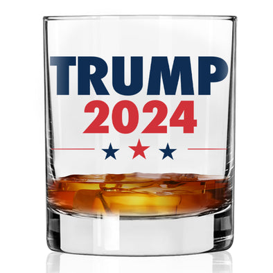 Whiskey Glass - Trump 2024 Color