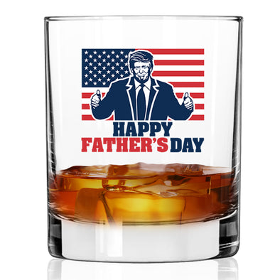 Whiskey Glass - Happy Fathers Day Color