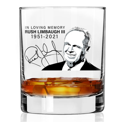 Whiskey Glass - In Loving Memory Rush Limbaugh