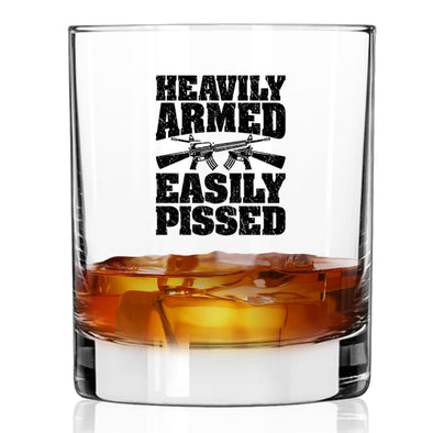 Whiskey Glass - Heavily Armed Easily Pissed