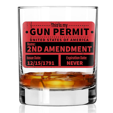 Whiskey Glass - Gun Permit Color