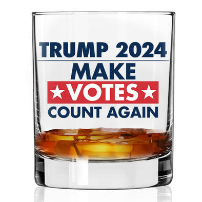 Whiskey Glass - Trump 2024 Make Votes Count Again