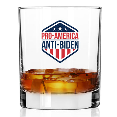 Whiskey Glass - Pro American Anti Biden