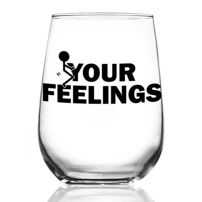 Wine Glass - Stick Figure F Your Feelings - Color