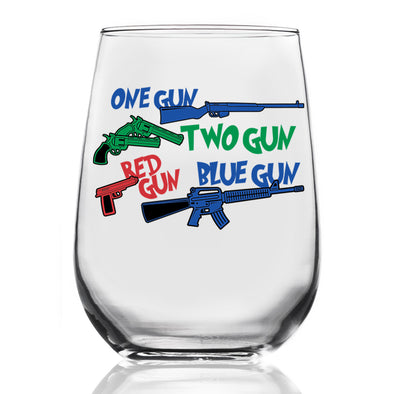 Wine Glass - One Gun, Two Gun