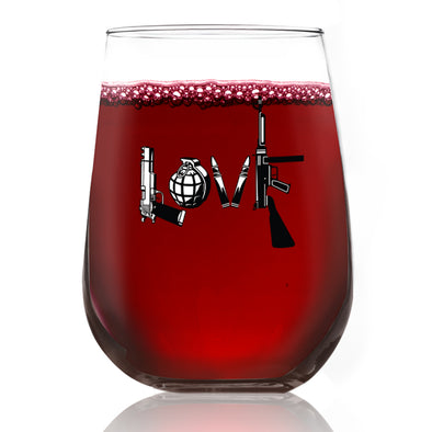 Wine Glass - LOVE Gun - Color