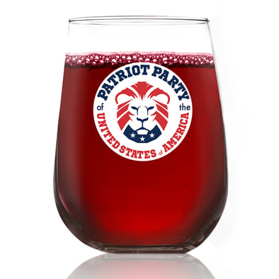 Patriot Party Lion - Wine Glass