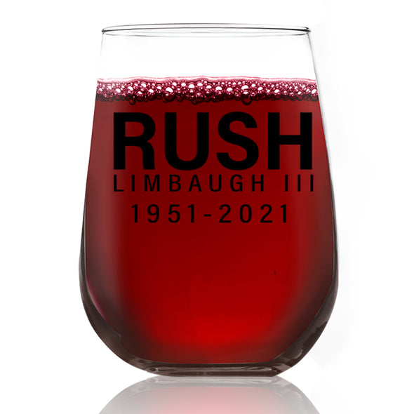 Wine Glass - Rush Limbaugh 1951-2021