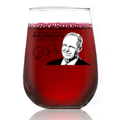 Wine Glass - In Loving Memory Rush Limbaugh