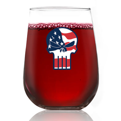 Wine Glass - Punisher - Color