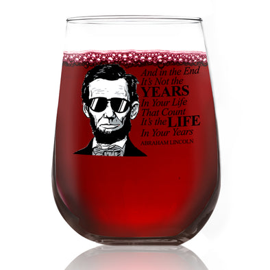 Wine Glass - Lincoln in Shades