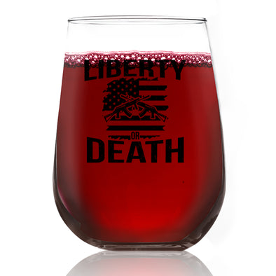 Wine Glass - Liberty or Death