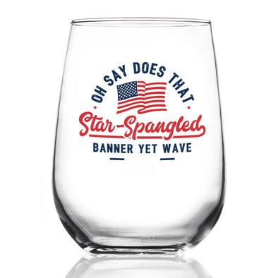 Wine Glass - Star Spangled Banner