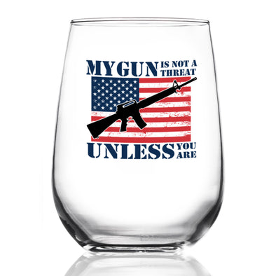 Wine Glass - Gun is Not a Threat Color