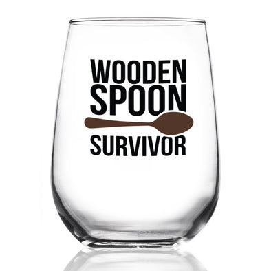 Wine Glass - Wooden Spoon Survivor
