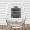 Wine Glass - US Tombstone