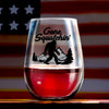 Wine Glass - Gone Squatchin