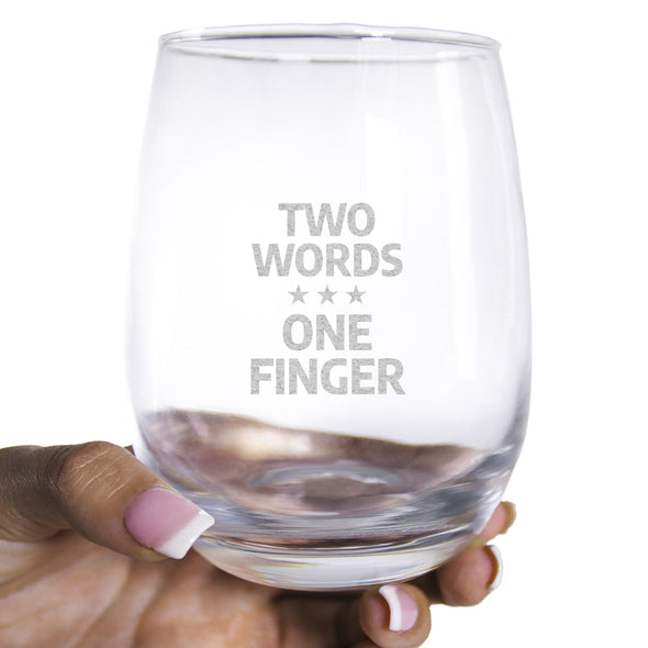 Wine Glass - Two Words One Finger