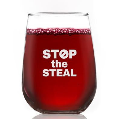 Wine Glass - Stop the Steal