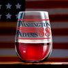Washington Adams 88 - Wine Glass