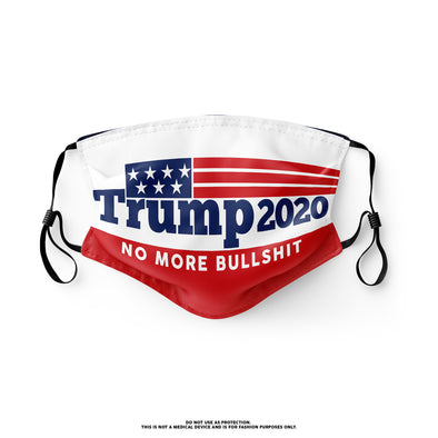 Trump 2020 No More Bullshit Mask