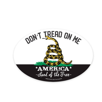 Don't Tread on Me 6x4 Oval Magnet