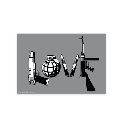 Love with Guns 6x4 Rectangle Magnet