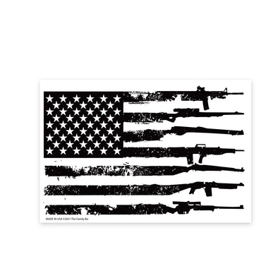 Gun Flag 6x4 Rectangle Magnet