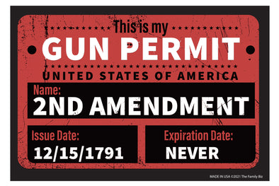 Gun Permit 6x4 Rectangle Magnet