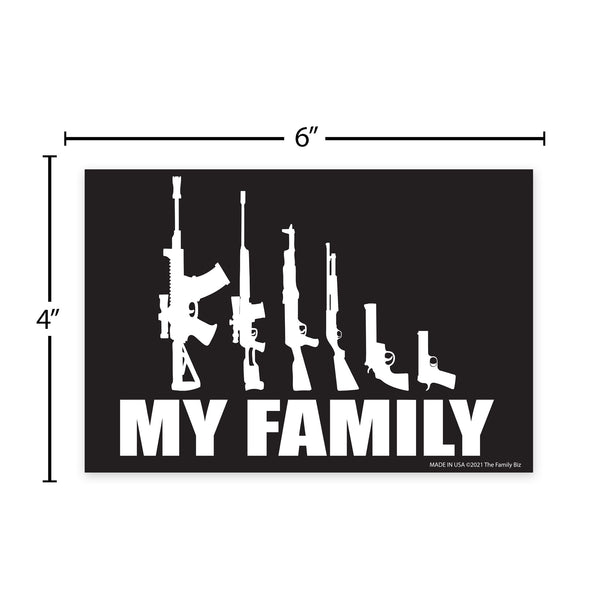 My Family Guns 6x4 Rectangle Magnet