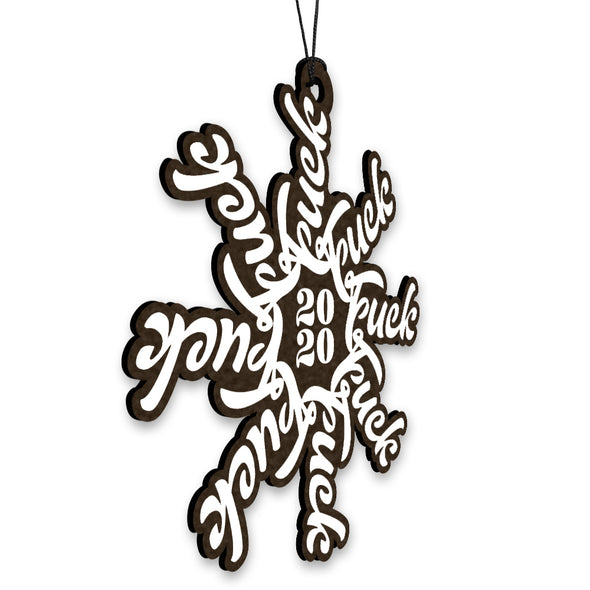 F Flake 2020 Wood Ornament