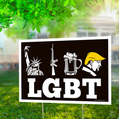 "LGBT 12"" x 18"" Two Pack Yard Signs"