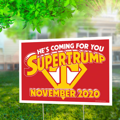 "Supertrump 12"" x 18"" Two Pack Yard Signs"