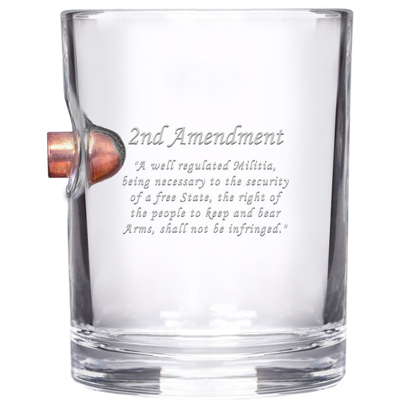 .45 Caliber Bullet Whiskey Glass - 2nd Amendment