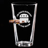 .50 Cal Bullet Pint Glass - Elephant in the Room – Round