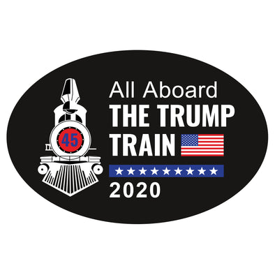 All Aboard the Trump Train Car 6x4 Oval Magnet