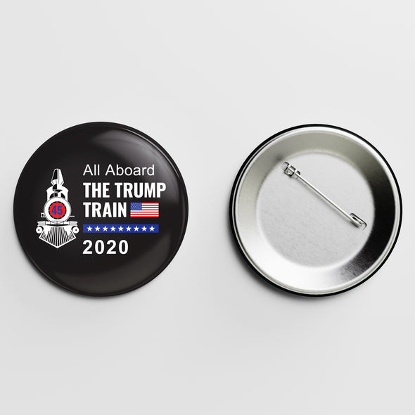 All Aboard the Trump Train Button